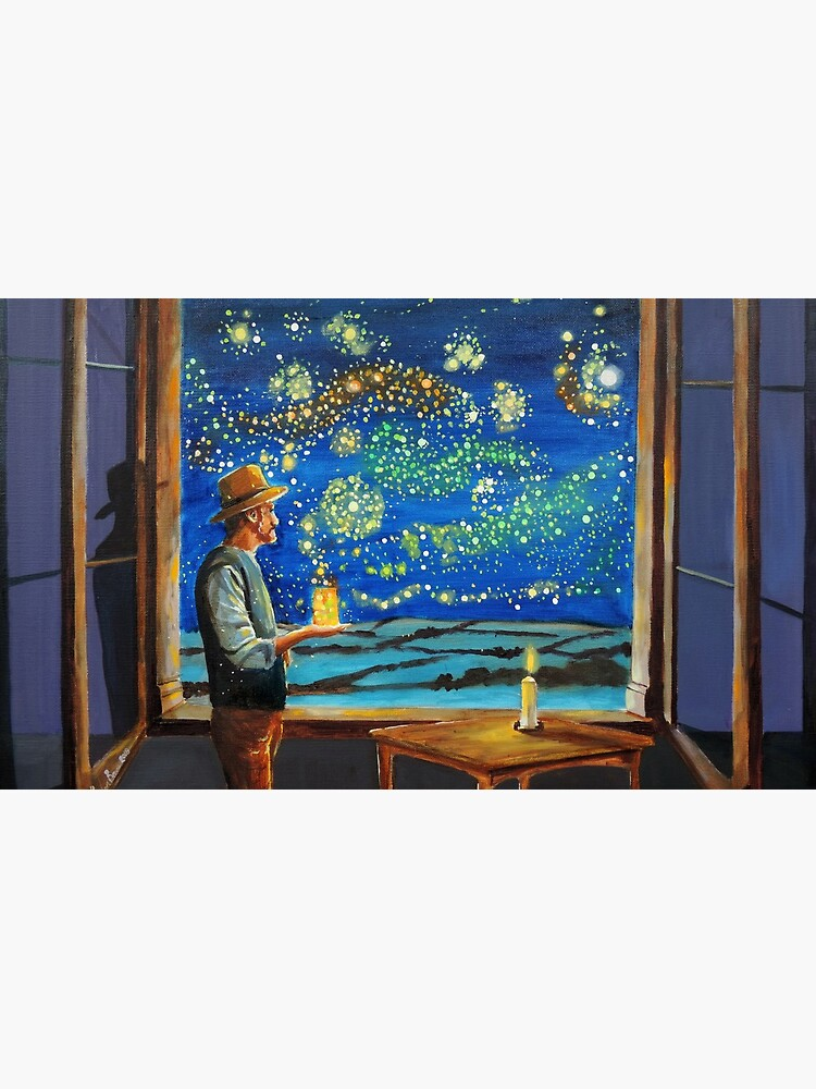 Van Gogh & The Starry Night with fireflies by gordonbruce