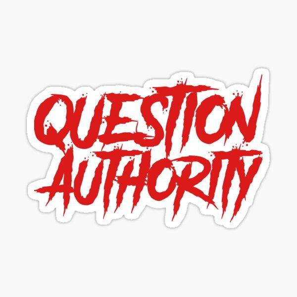 Autoridad de la pregunta - Código anarquista Pegatina