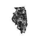 Illinois distressed State Map Abbreviation IL by Chocodole