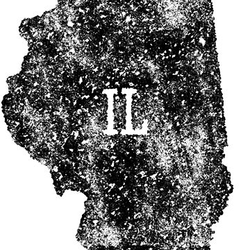 Illinois distressed State Map Abbreviation IL by Chocodole