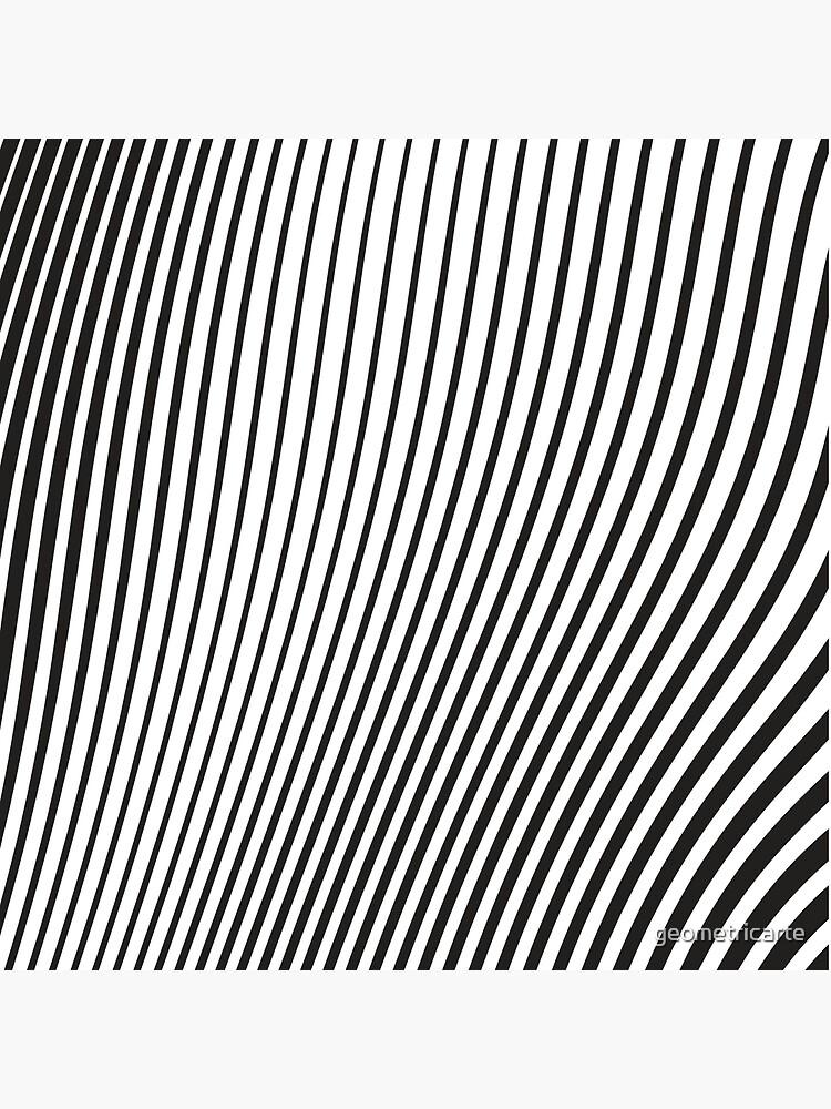 WAVE (BLACK) de geometricarte