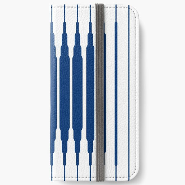 SQUARE LINE (BLUE) Fundas tarjetero para iPhone