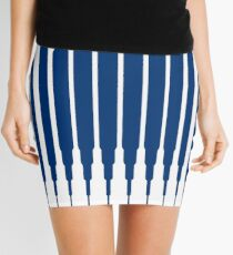 SQUARE LINE (BLUE) Minifalda
