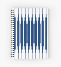 SQUARE LINE (BLUE) Cuaderno de espiral