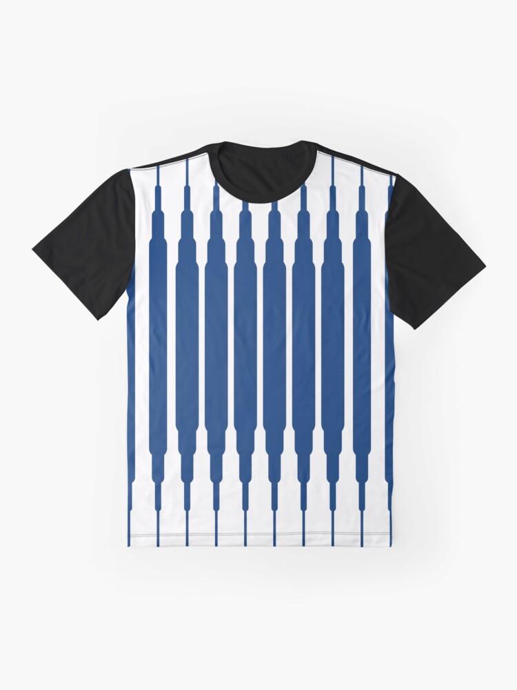 Vista alternativa de Camiseta gráfica SQUARE LINE (BLUE)
