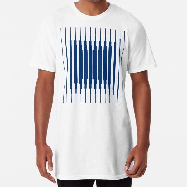 SQUARE LINE (BLUE) Camiseta larga