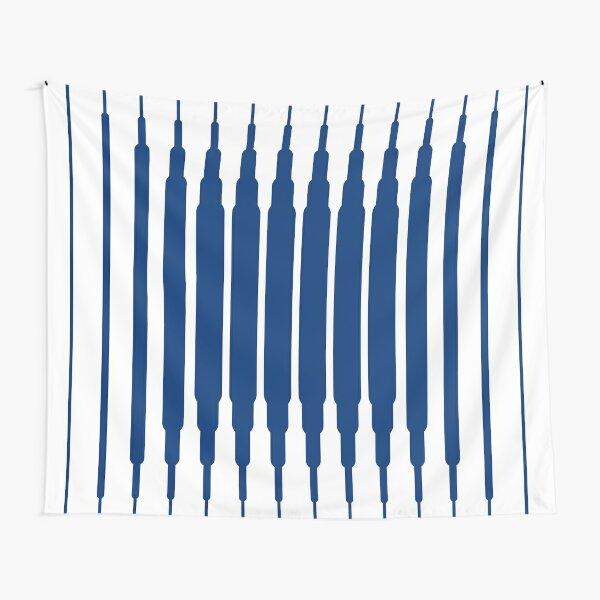 SQUARE LINE (BLUE) Tela decorativa