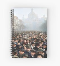 Antwerp, Belgium, a few hours after the Germans surrendered and an end of World War I. 11th November 1918 Spiral Notebook
