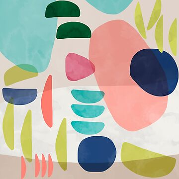 Organic Bold Shapes Watercolor by ninoladesign