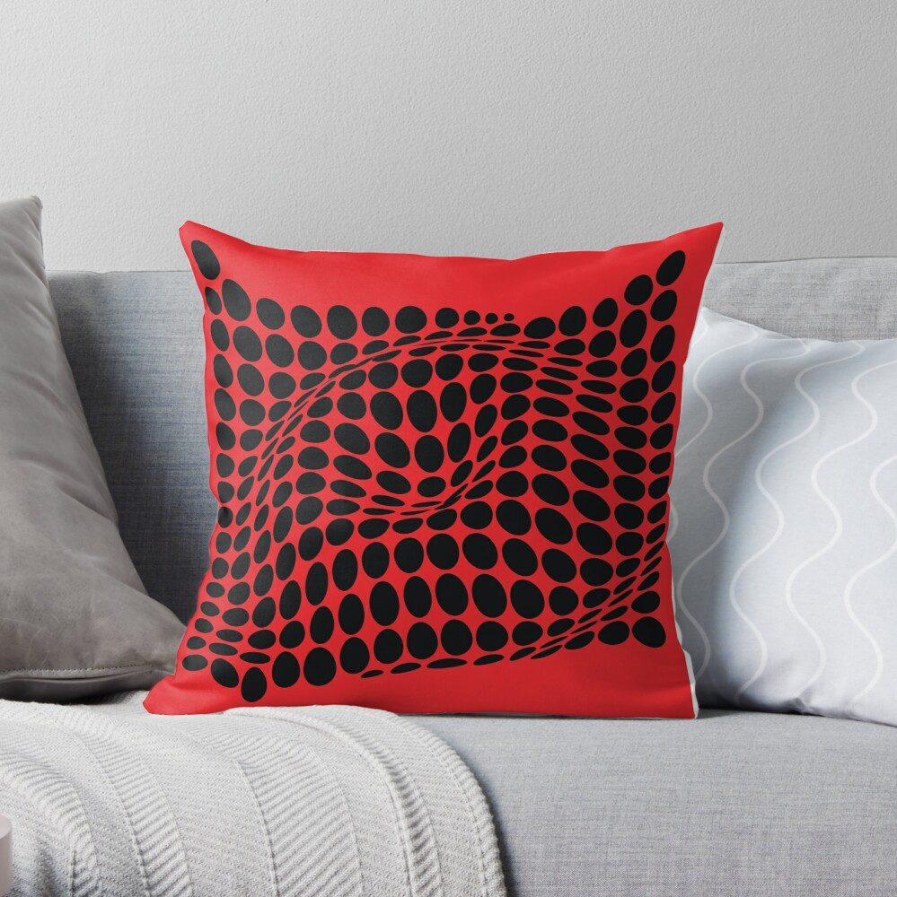COME INSIDE (RED/BLACK) Cojín
