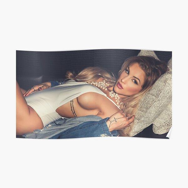 "Fashion Art Photography - Modern Pinup Art - ""Sexy Blonde Girl in One Piece"" Featuring Beautiful Fashion Model Nikola Weiterova  Poster"
