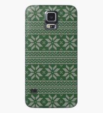 Green House Christmas Cross Stitch Pattern Case/Skin for Samsung Galaxy