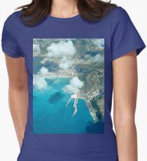 an inspiring Sint Maarten landscape Women's Fitted T-Shirt