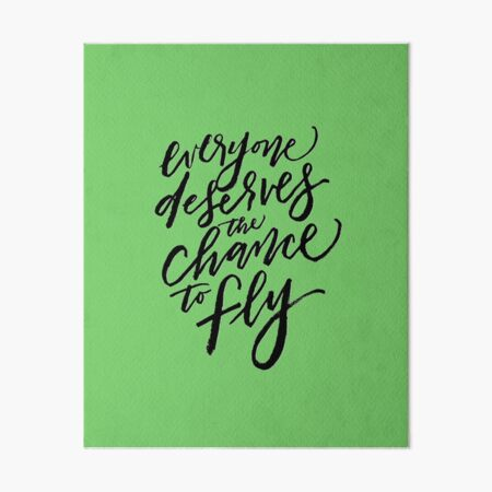 The Chance to Fly Art Board Print