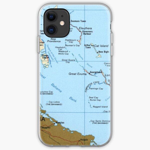 Karte der Bahamas (1986) iPhone Flexible Hülle