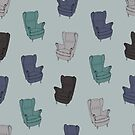 Seventies Armchair Pattern - Version 2 by Printables Passions
