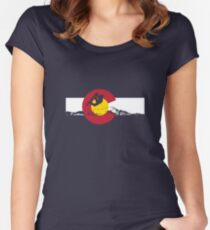 Snowboarder - Colorado Flag Women's Fitted Scoop T-Shirt