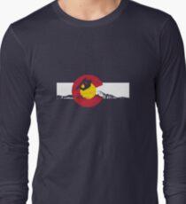 Snowboarder - Colorado Flag Long Sleeve T-Shirt