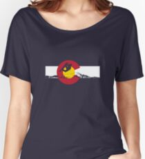 Snowboarder - Colorado Flag Women's Relaxed Fit T-Shirt