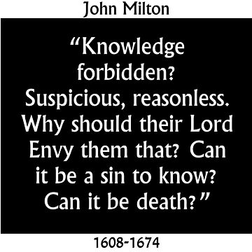 Knowledge Forbidden - Milton by CrankyOldDude