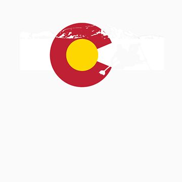 Whitewater Rafting - Colorado Flag by FlagSilhouettes