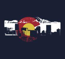 Denver Skyline - Colorado Flag
