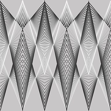 Graphic with triangles in white to black by robelf