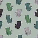 Seventies Armchair Pattern - Version 3 by Printables Passions
