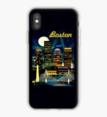 BOSTON : Vintage Travel Advertising Print iPhone Case