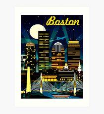 BOSTON : Vintage Travel Advertising Print Art Print