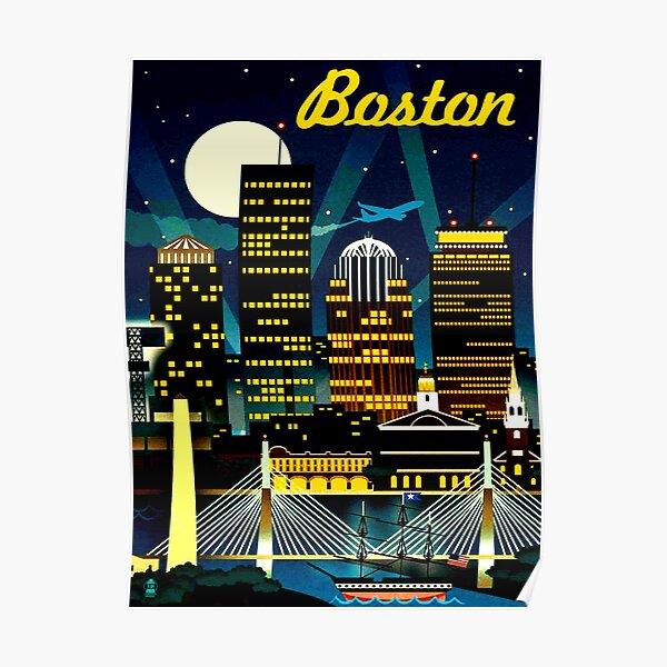 BOSTON : Vintage Travel Advertising Print Poster