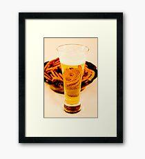 Beer & Pretzels Framed Print