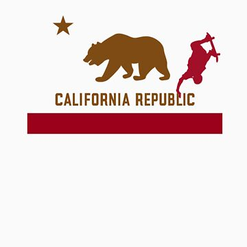 Skateboard - California Flag by FlagSilhouettes