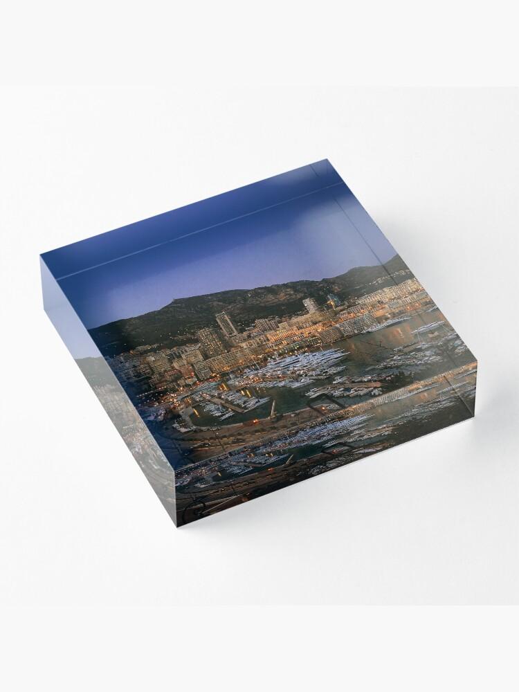 Alternate view of Beauty of Monaco Bay Acrylic Block
