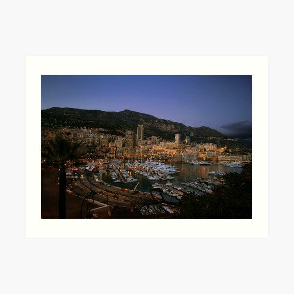 Beauty of Monaco Bay Art Print