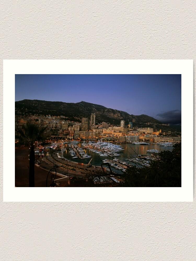 Alternate view of Beauty of Monaco Bay Art Print