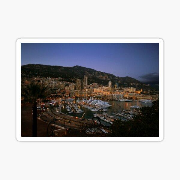 Beauty of Monaco Bay Sticker