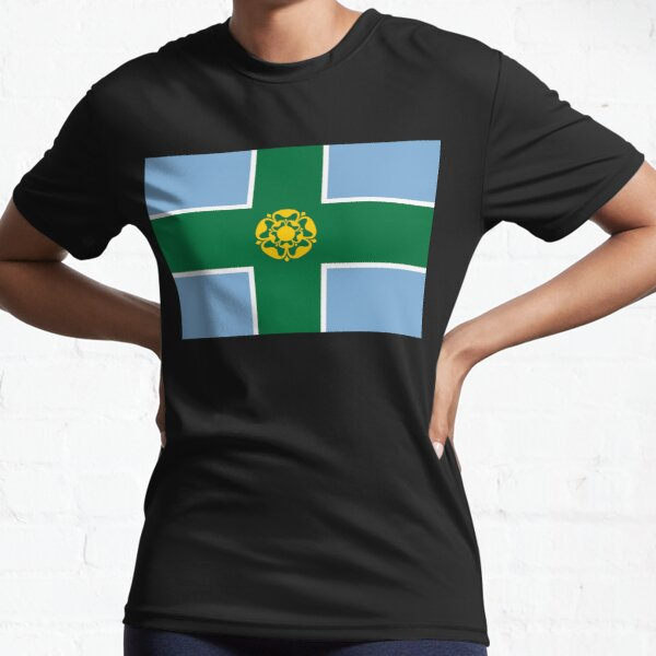 Flag of Derbyshire, UK Active T-Shirt