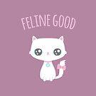 Cute Feline Good Kitty Cat Pun by rustydoodle
