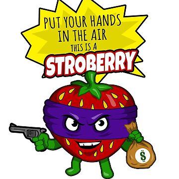 Funny Strawberry Fruit Gun Shirt  by Ducky1000