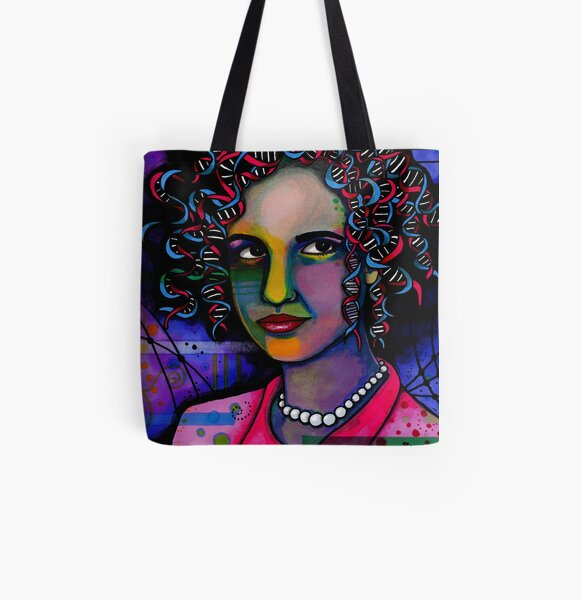 Rosalind Franklin All Over Print Tote Bag