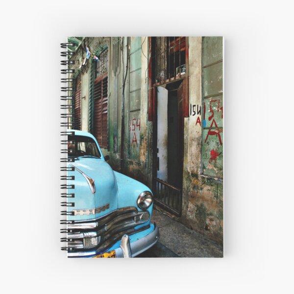 blue car Spiral Notebook