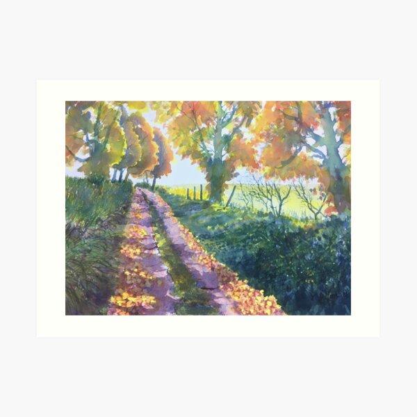 The Tunnel in Autumn Art Print