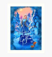 Weihnachten Schneewittchen Kunstdruck