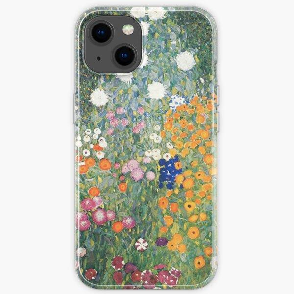 Gutav Klimt Flower Garden Painting iPhone Soft Case