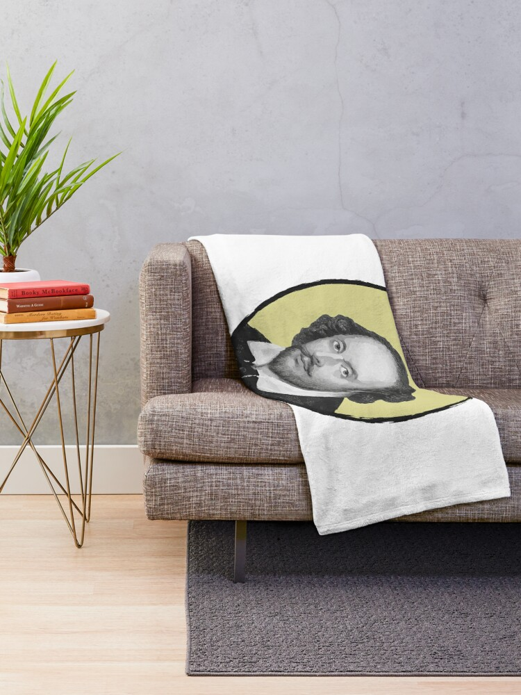 Alternate view of William Shakespeare Throw Blanket