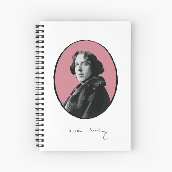 Oscar Wilde Spiral Notebook