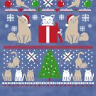 Ugly Christmas Sweater | Funny Holiday Cat Butts by Kittyworks