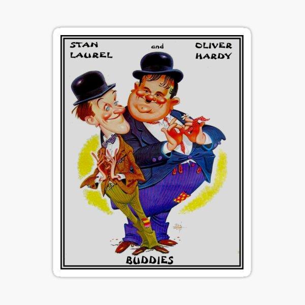 BUDDIES : Vintage Laurel and Hardy Advertising Print Sticker