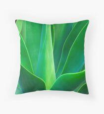 Blue Foxtail Throw Pillow